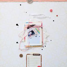 Manual by RahelMenig at Studio Calico 12x12 Scrapbook, Scrapbook Sketches, Scrapbooking Layouts, Scrapbook Photos, Layout Inspiration, Art Journal Inspiration, Creative Inspiration, Studio Calico, Altered Art