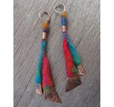 Hey, I found this really awesome Etsy listing at https://www.etsy.com/listing/130972012/needle-felted-wool-and-hammered-copper