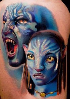 Avatar Tattoo Designs, Designs of Attractive Avathar Tattoos, Angry Avatar Design Tattoos, Impressive Avatar in Angry Tattoos Avatar Tattoo, Sexy Tattoos, Life Tattoos, Body Art Tattoos, Tatoos, Stephen Lang, Michelle Rodriguez, Tattoo Designs, Design Tattoos