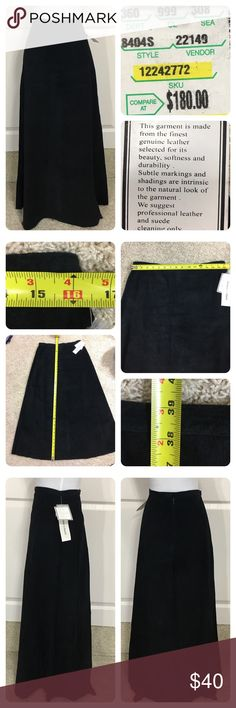 NWT! Yvonne & Marie suede maxi skirt New with tags!  Classic black suede maxi skirt from Yvonne & Marie. Side zipper and lined. No flaws noted. Yvonne & Marie Skirts Maxi