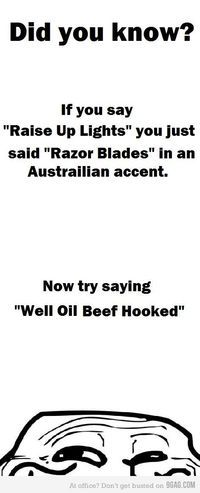Speaking Australian - How many times did you say it??