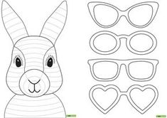 Vorlage: Osterhase zu färben / Modèle: Lapin de Pâques à colorier Easter Bunny Template, Funny Easter Bunny, Bunny Templates, Happy Easter, Easter Craft Activities, Easter Crafts For Kids, Easter Ideas, Summer Crafts, Lapin Art