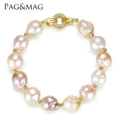 Like and Share if you want this  PAG&MAG Brand Freshwater Pearl Strand Bracelet 12-13mm Natural Multi Color Baroque Style Trendy Bracelet For Women Jewelry Gift     Tag a friend who would love this!     FREE Shipping Worldwide     Get it here ---> http://jewleryfashions.com/pagmag-brand-freshwater-pearl-strand-bracelet-12-13mm-natural-multi-color-baroque-style-trendy-bracelet-for-women-jewelry-gift/