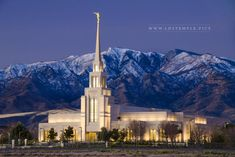 Gila Valley Temple Dawn | LDS Temple Art