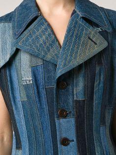 Junya Watanabe Comme Des Garçons Расклешенное Джинсовое Платье В Лоскутной Стиле - Forty Five Ten - Farfetch.com