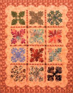 """""""Hawaiian quilt"""" by YS Yu 166cm*208cm"""