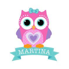 Kit De Vinilo Decorativo Autoadhesivo Little Owl  Con Nombre Personalizado!