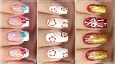 03 UNHAS DECORADAS PARA O NATAL - Nail Art Easy | Gersoni Ribeiro Convenience Store, Nail Art, Nails, Easy, Youtube, Beauty, Convinience Store, Finger Nails, Ongles