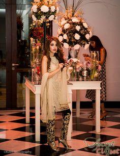 Alisha Hashmi in a Mina Hasan formal