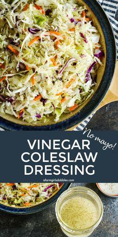 Coleslaw With Vinegar Dressing, Salad Dressing Recipes, Salad Dressings, Sauces, Cooking Recipes, Healthy Recipes, Healthy Menu, Chef Recipes, Keto Recipes
