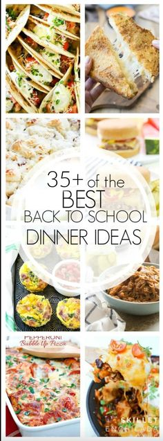 With fall right around the corner, having easy meals for school nights is essential! Here are the best back to school dinner recipes.