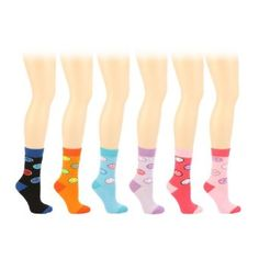 Winter Boot Ski Thick 6 Pairs Smiley Face Crew Ladies Mid Calf Socks Cotton Set SK Hat shop. $18.95