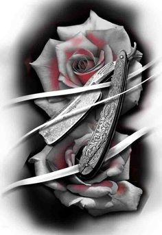 Discover recipes, home ideas, style inspiration and other ideas to try. Design Tattoo, Flower Tattoo Designs, Tattoo Sketches, Tattoo Drawings, Tattoo Studio, Hairdresser Tattoos, Barber Man, Barber Tattoo, Rose Flower Tattoos
