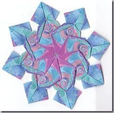 This blog has some beautiful Iris folding and Tea Bag folding! Rectangle Tea Bag Tiles