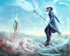 Above the storm by TigRaidoXXX / Kaladin vs. Szeth