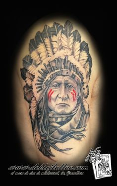Indio nativo americano. Doble J Tattoo.com