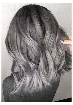 Dark Silver Hair, Ash Grey Hair, Silver Hair Dye, Dark Grey Hair Color, White Hair, Black And Grey Hair, Purple Hair, Grey Hair Dye For Dark Hair, Grey Hair With Dark Roots