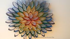 Crafting With Kara - Hanging Rainbow Flower