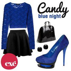 ae936c760 Te proponemos el azul eléctrico como look ideal para salir de noche.