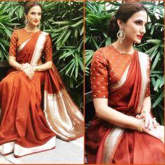 Shilpa Reddy in brown silk saree at-Gudisambaralu