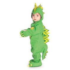 Rubie's EZ-On Romper Costume, Dragon Dinosaur for 0,6,12 Month