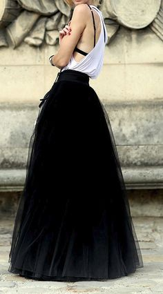 long tulle skirt - Google Search