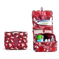 8adcf66d6 ULTNICE Bolso Cosmético Impermeable del maquillaje del bolso Bolso del  almacenaje del almacenaje del bolso de la toalla con el gancho colgante  para viajar ...