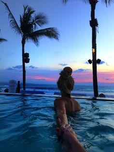 girl tumblr photography summer beach pool travel beautiful pretty bun hair