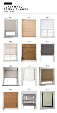 How We Choose Roman Shades Room For Tuesday Blog Window Treatments Living Room Roman Shades Living Room Kitchen Window Treatments