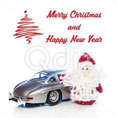 Qdiz Stock Photos Christmas greeting card,  #auto #automobile #background #beard #car #card #celebration #Christmas #classic #Claus #Clause #closeup #decoration #delivery #doll #eve #Father #figure #frost #fun #funny #greeting #holiday #little #Merry #new #old #postcard #red #retro #Santa #small #toy #traditional #transport #transportation #vehicle #vintage #white #x-mas #xmas #year