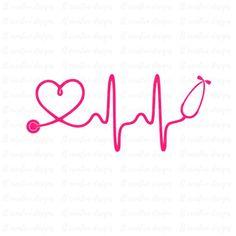 Heartbeat SVG, Nurse SVG, Doctor SVG, Healthcare Svg, Stethoscope Svg, Cricut Cut Files, Silhouette Programing Software, Stethoscope, Nurse Life, Future Tattoos, In A Heartbeat, Cricut Design, Cute Wallpapers, Small Tattoos, Clip Art