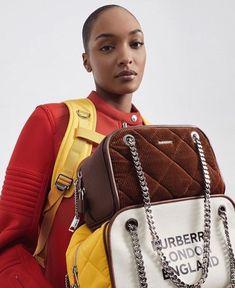 "Jourdan Dunn on Instagram: ""Burberry's Future Archive ✨"" Aventura Mall, Christopher Bailey, Jourdan Dunn, Chanel Boy Bag, Mini Bag, Sling Backpack, Jimmy Choo, Fendi, Leather Bag"