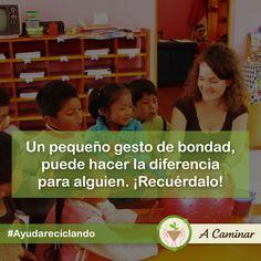 Un pequeño gesto de amor puede cambiarle la vida a mucho de ellos. #AyudaReciclando http://acaminar.org/