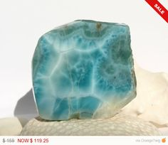 1 Week Sale  Dominican Turquoise Blue Larimar 80g by MyBeachStore