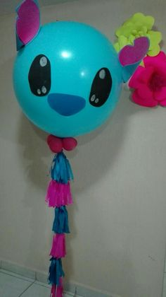 Birthday Games, Boy Birthday Parties, Luau Theme Party, Party Themes, Balloon Decorations Party, Balloon Ideas, Lelo And Stitch, Luau Baby Showers, Balloon Arrangements