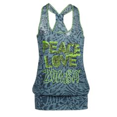 Peace Bubble Tank - Jet - Sale! - Zumbawear™ Zumba® Clothes and Accessories