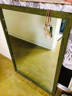 Olive distressed to graphite XL - $62. Eclectic Mirrors, Gift Store, Graphite, Interior Design, Gifts, Home Decor, Graffiti, Nest Design, Presents