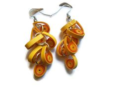 Paper Quilled Earrings by Wastebasketwhatnots
