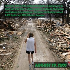 August 29, 2005 – Hurricane Katrina hits southeast Louisiana, causing levees to burst and more than 1 million people in Louisiana, Mississippi and Alabama to be displaced. The storm and flooding caused 1,300 deaths and $150 billion in damages.
