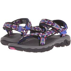 45646e64a7dd Teva Hurricane XLT (Mosaic Black Magenta) Women s Sandals (79 CAD) ❤ liked  on Polyvore featuring shoes