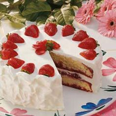 Strawberry poke cake!  A little time consuming but well worth it!  I think it's better than short cake!