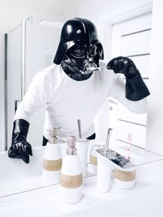 The daily life of Darth Vader. The infamous Sith Lord by Polish Photographer Pawel Kadysz.