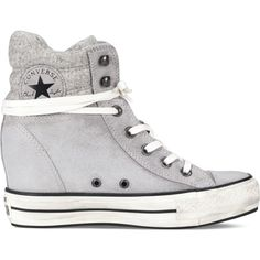 3e4fd9697b05 Converse Chuck Taylor Platform Plus Collar Sneakers (91 CAD) ❤ liked on  Polyvore featuring