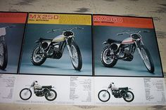 VINTAGE ORIGINAL 1973 YAMAHA MOTOCROSS DIRT BIKE BROCHURE sc 500 mx 360 mx 250