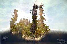 /r/minecraft: Steamshire island - finally finished after a month of hard work!