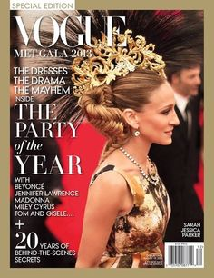 The Queen and her Crown - Sarah Jessica Parker Cover of 2013 Special Edition Vogue:  This picture is SICK... SICK I tell you!