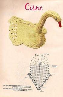 Swan Symphony pattern by Coats & Clark Crochet Thread Patterns, Crochet Stitches Chart, Crochet Diagram, Weaving Patterns, Crochet Designs, Crochet Birds, Crochet Art, Irish Crochet, Crochet Doilies