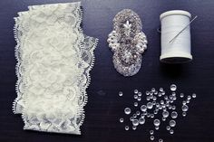 wedding garter materials