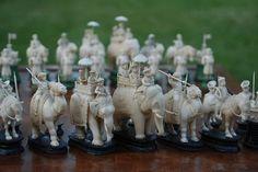 """East India (""""John"""") Company Ivory Chess Set"""