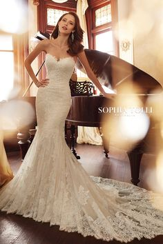 Mon Cheri Bridal offers wedding dress collections from designers like Martin Thornburg, Sophia Tolli, & more. Find your perfect ivory wedding dress! Western Wedding Dresses, Affordable Wedding Dresses, Wedding Dress Trends, Bridal Dresses, Wedding Ideas, Sheath Wedding Gown, Wedding Gowns, Wedding Sundress, Wedding Bells